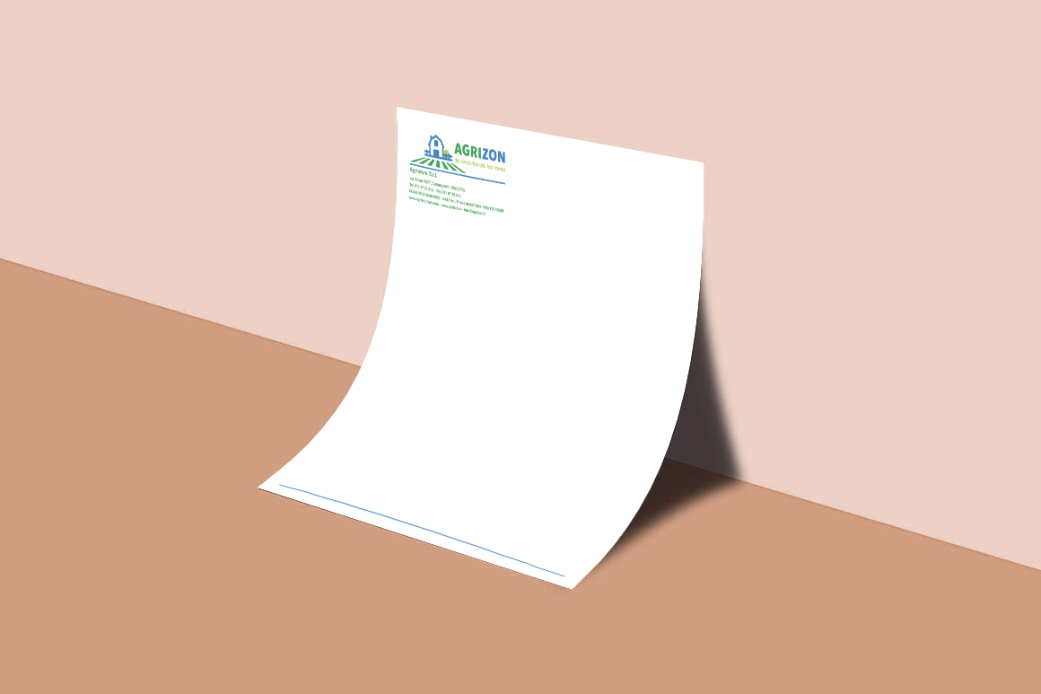 Letterhead  A4 - realizzato da Alice Bottino Visual Designer