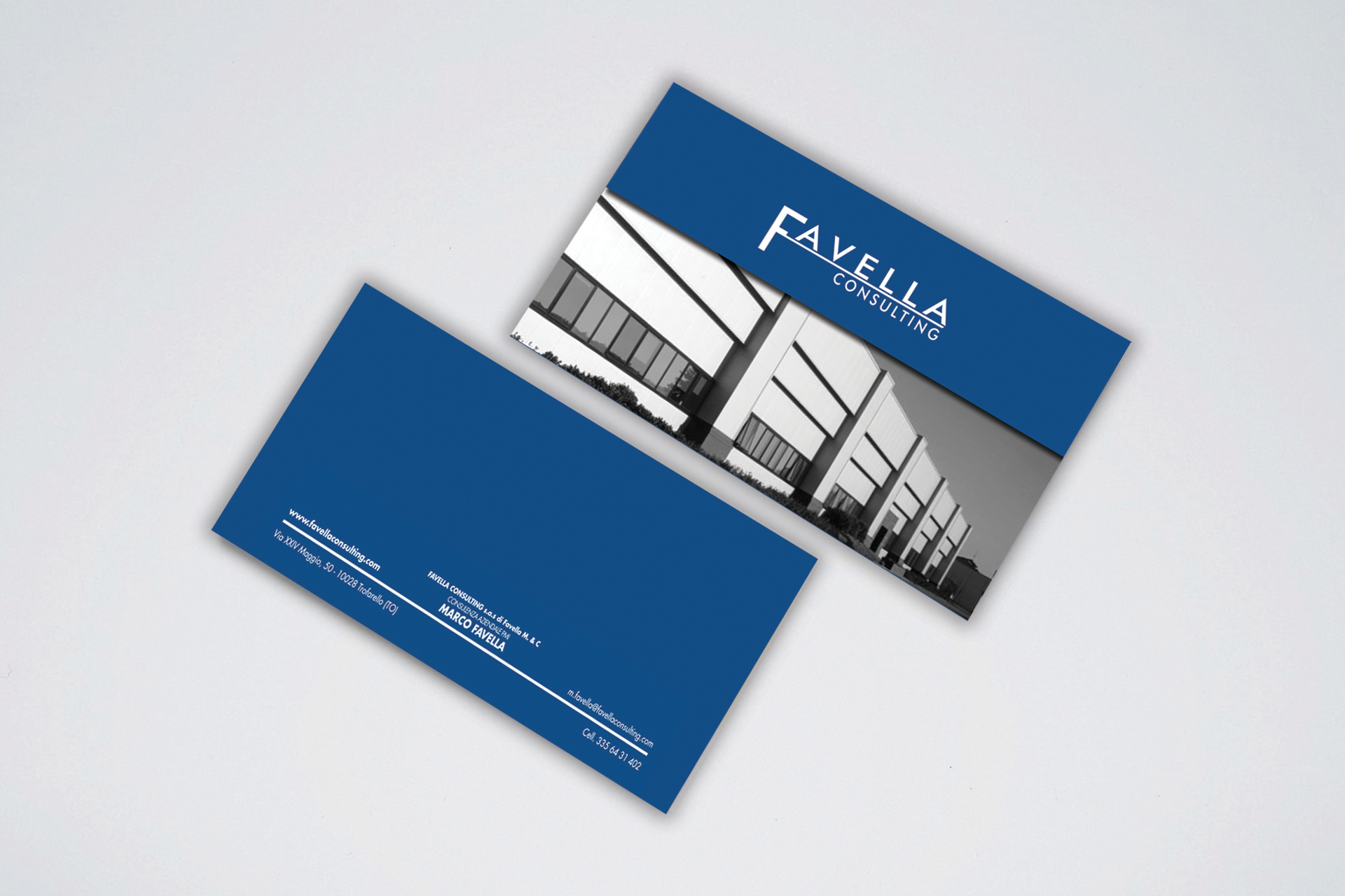 Business Card Favella Consulting realizzato da Alice Bottino Visual Designer
