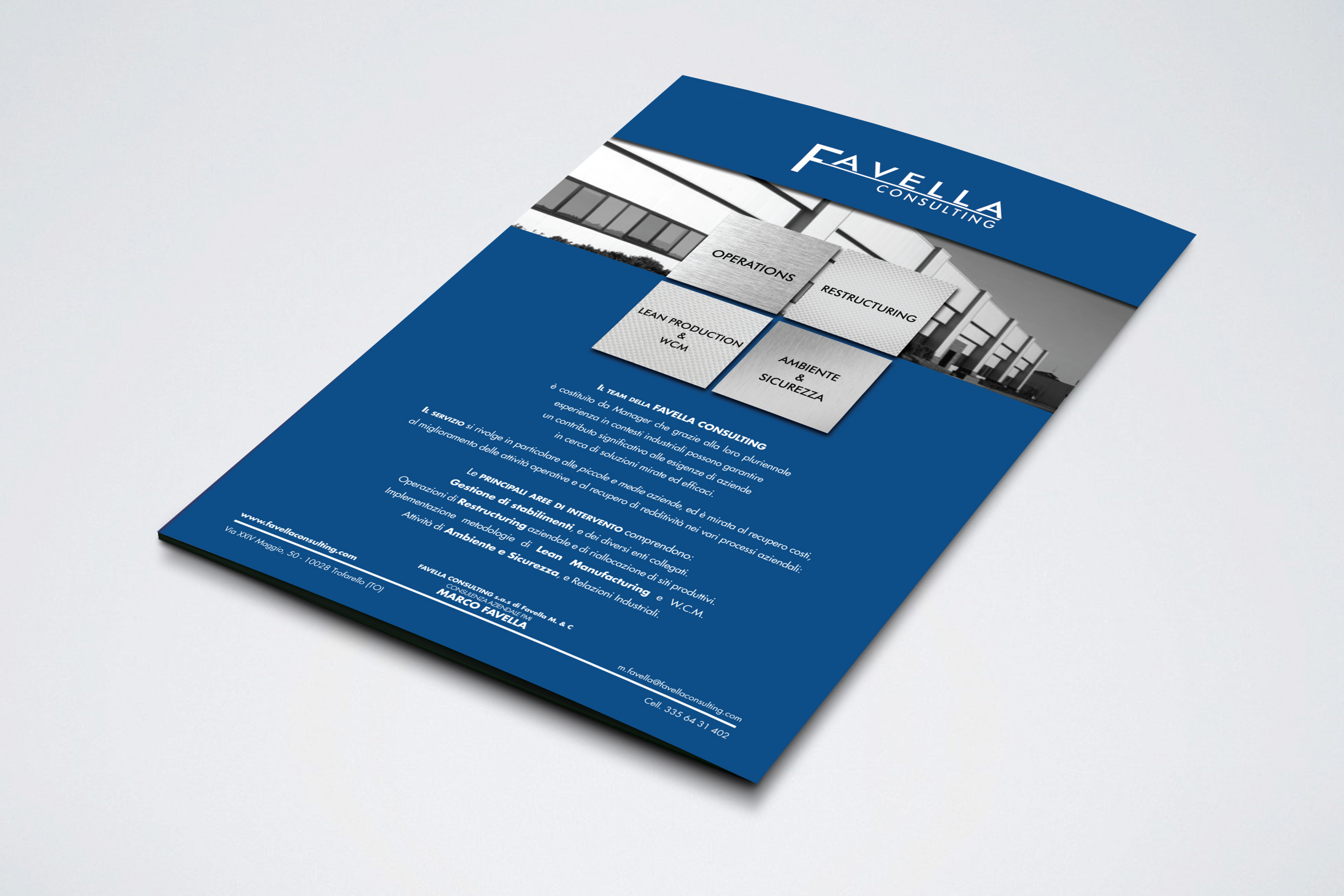 Brochure Favella Consulting realizzato da Alice Bottino Visual Designer