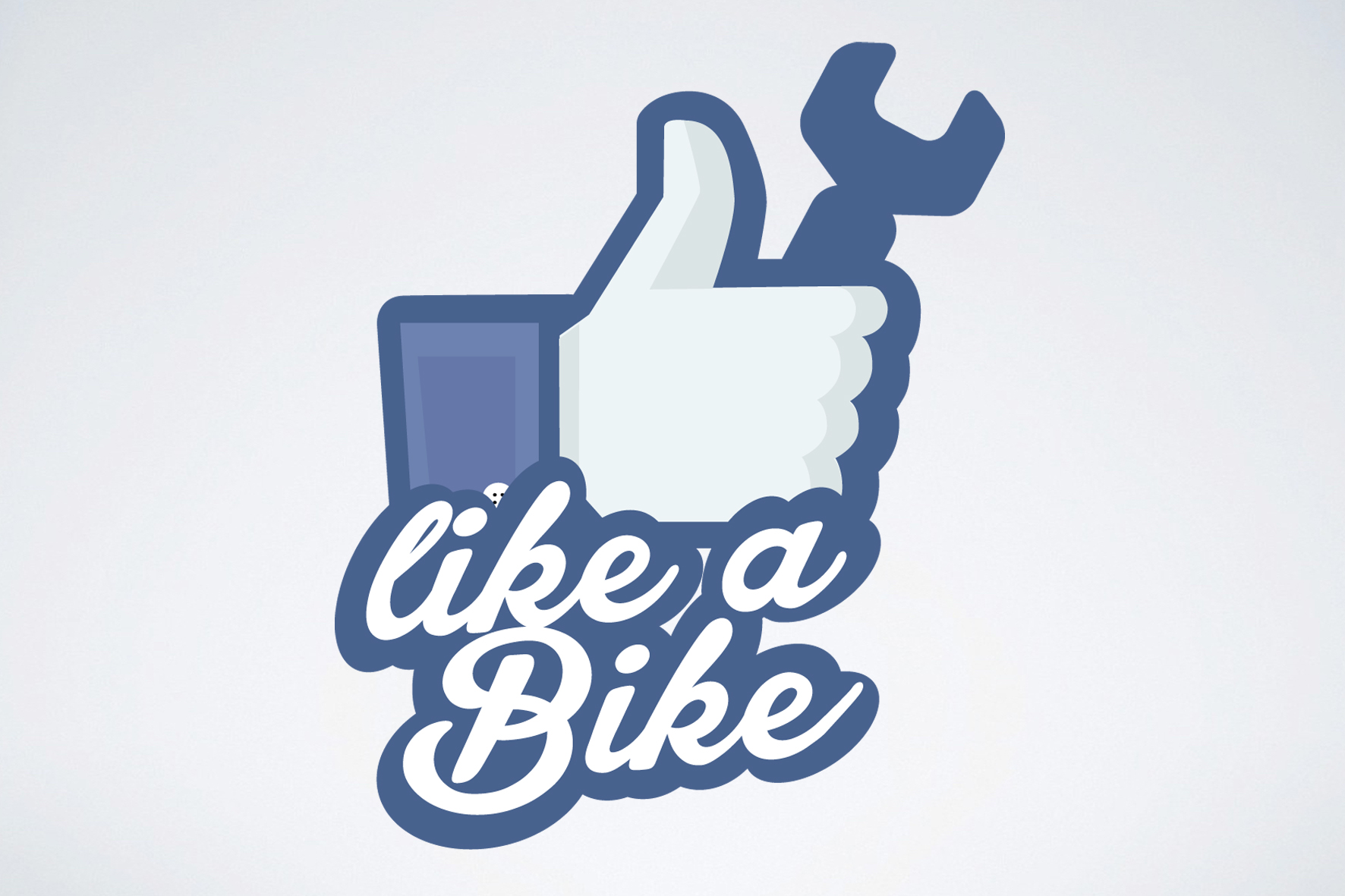 Imagotipo Like a Bike Ciclofficina realizzato da Alice Bottino Visual Designer