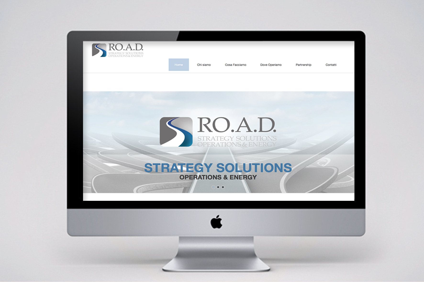 Header Website Road Strategy Solutions realizzato da Alice Bottino Visual Designer