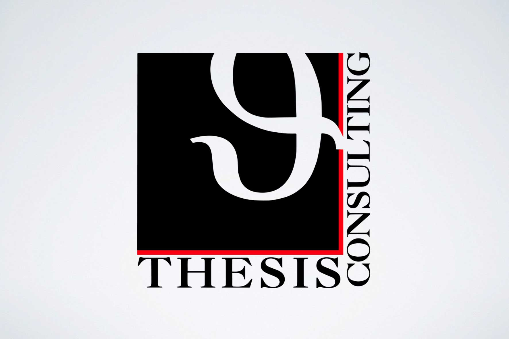 Imagotipo Thesis Consulting realizzato da Alice Bottino Visual Designer